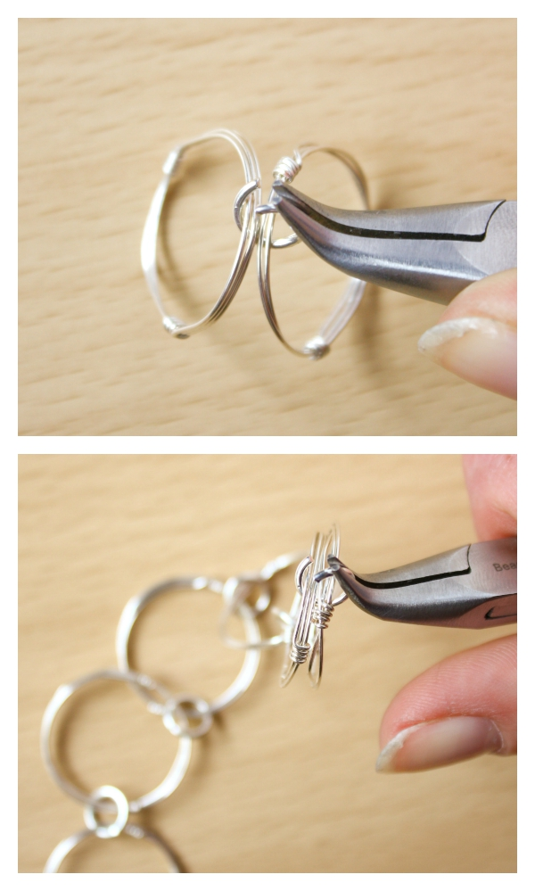 Wire Chain Link Necklace Diy Make And Fable