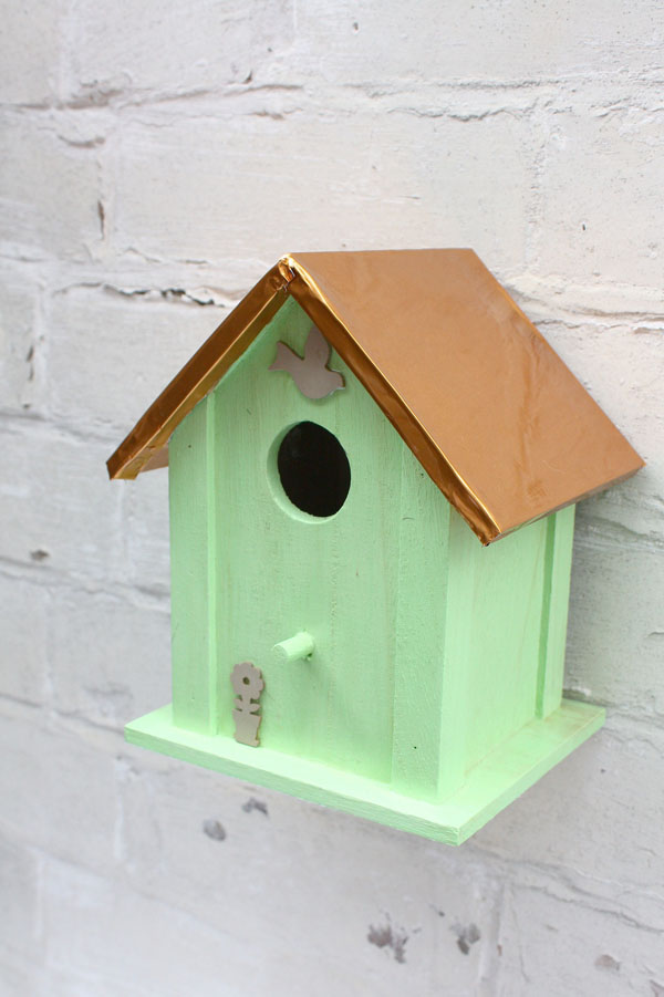 Copper And Mint Diy Birdhouse Make And Fable