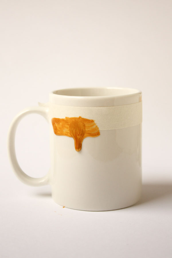 Paint Drip Mug DIY