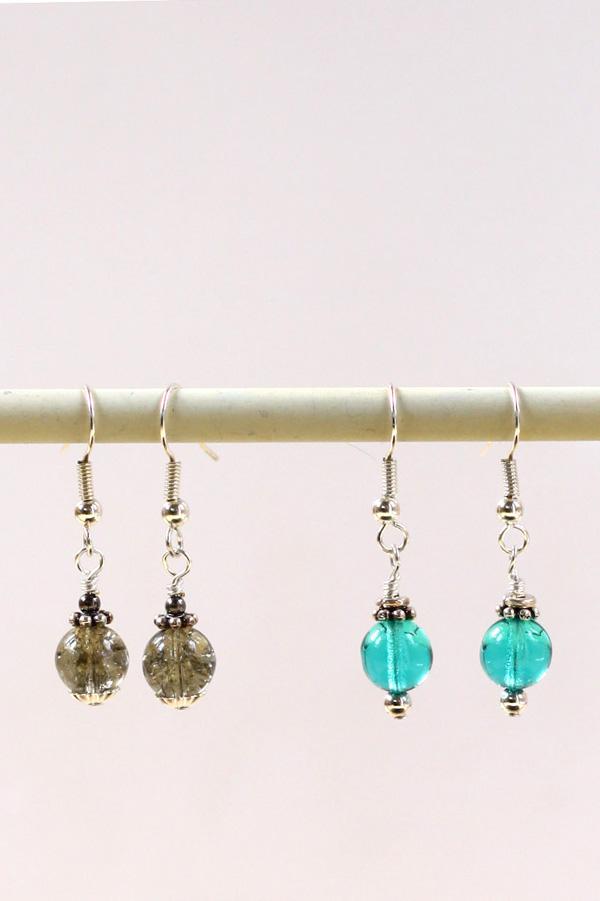 bead caps and spacer earrings