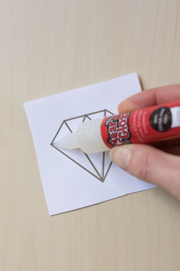Fun Flock Greetings Card Gem Design DIY Tutorial