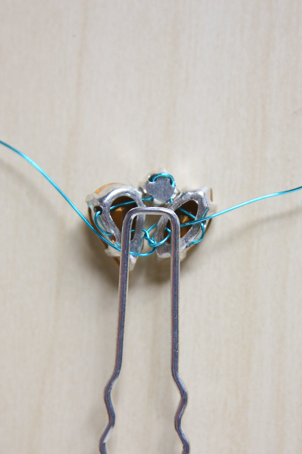 Diamante Hair Pins DIY Tutorial