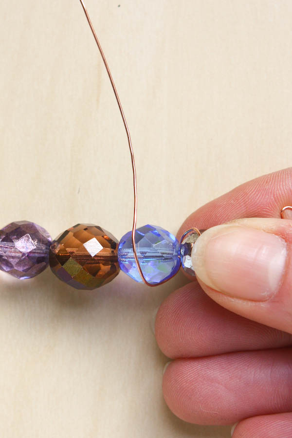 Spiral Wire and Bead Necklace